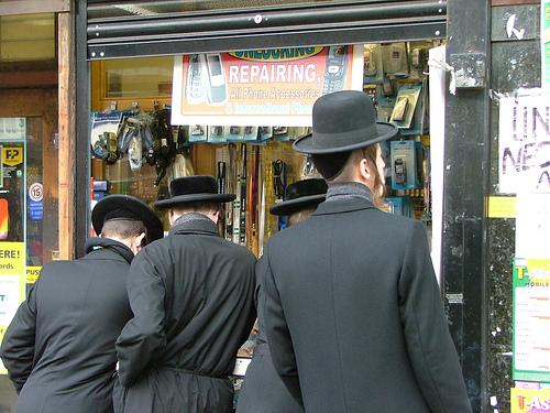 Hasidic Jews in Stamford Hill. Credit: D Casey