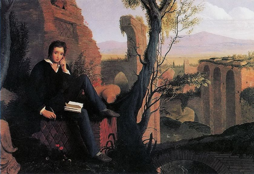 1024px-Joseph_Severn_-_Posthumous_Portrait_of_Shelley_Writing_Prometheus_Unbound_1845